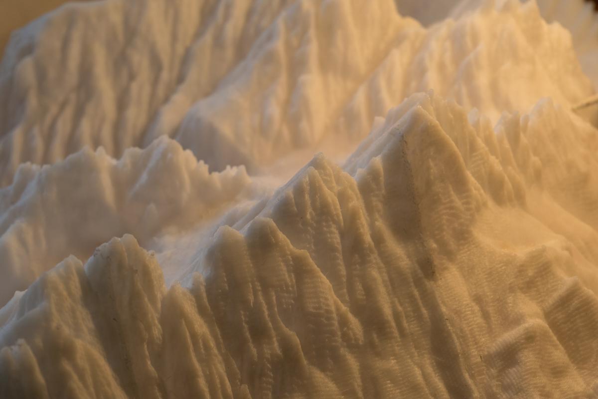 come fare un plastico di una montagna